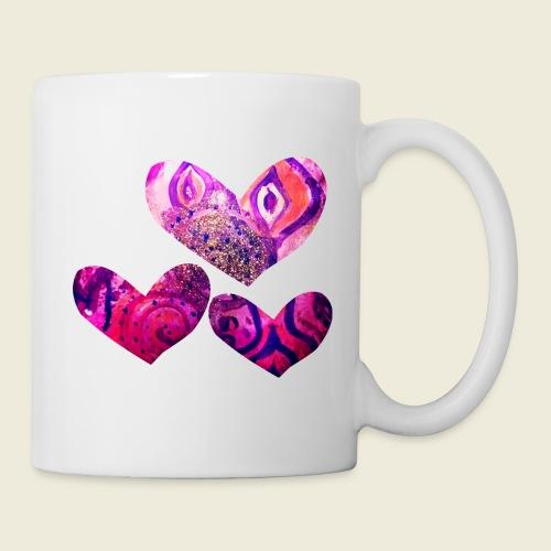 Traumhafte Herzen in pink - Tasse
