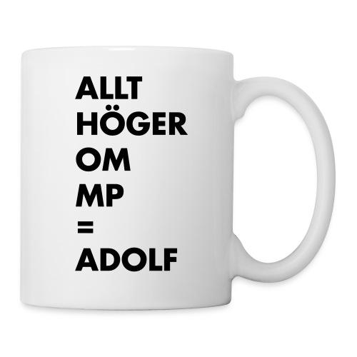 Allt höger om MP = Adolf - Mugg