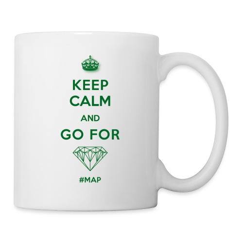 KEEP CALM AND GO FOR DIAMOND SYMBOL GREEN OHNE - Tasse