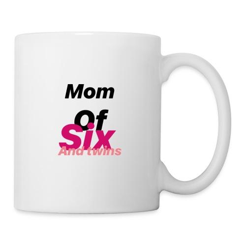 Mom of six and twins - Mug blanc