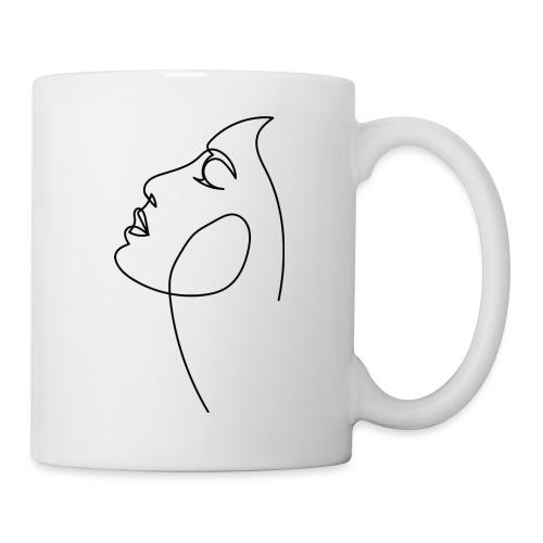 Logo Visage au Trait - Mug blanc