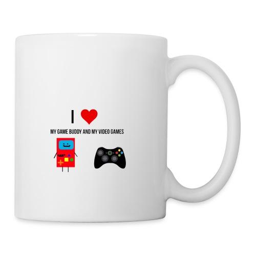 i love my game buddy and my video games - Mug