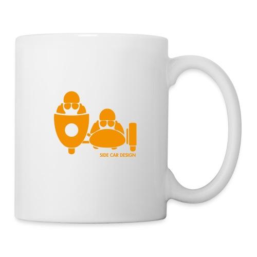 BASSET LOGO orange - Mug blanc