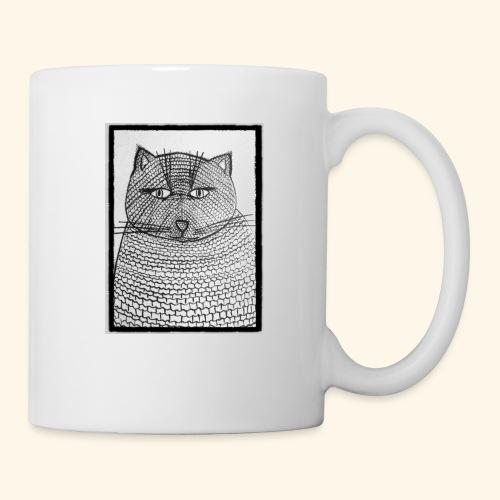 Chat Maille - Mug blanc