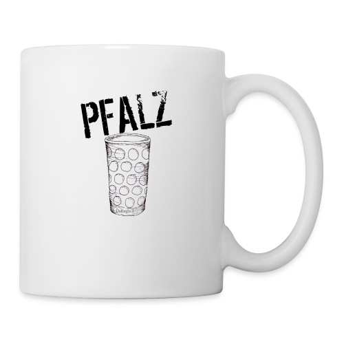Pfalzshirt mit Dubbeglas, weiß - Tasse