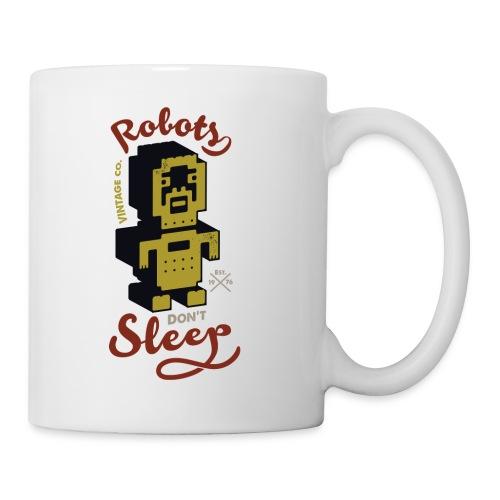 Vintage Robots - Taza