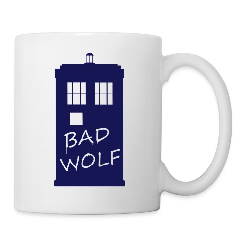 Bad Wolf Tardis - Mug blanc