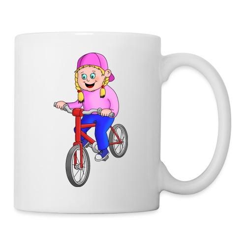 Radfahren Mädchen - Tasse