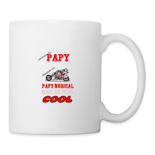 papy MOTARD COOL DESSIN BIS 1 png - Mug blanc