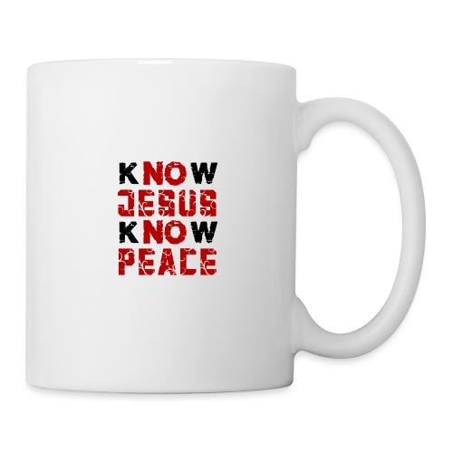 Know Jesus Know Peace (Flower Design) - Tasse