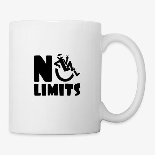 >Geen grenzen voor deze rolstoel gebruiker, roller - Mok