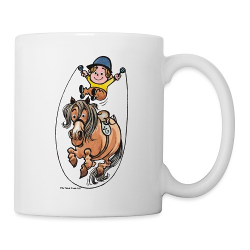 Thelwell Funny Rope Jumping Horse And Rider - Mug