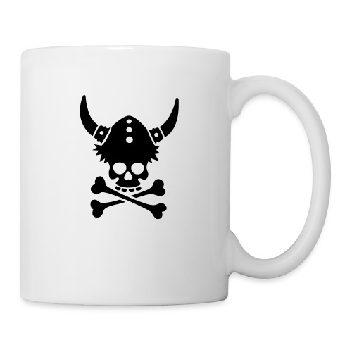 Totenkopf mit Wikingerhelm - Tasse
