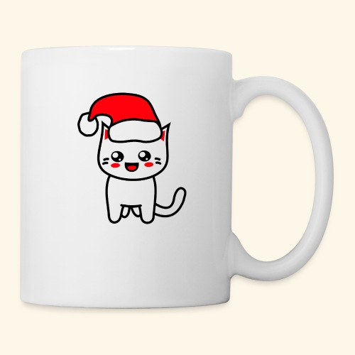 Kawaii Kitteh Christmashat - Tasse