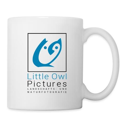 Little Owl Pictures Logo (schwarz/blau) - Tasse