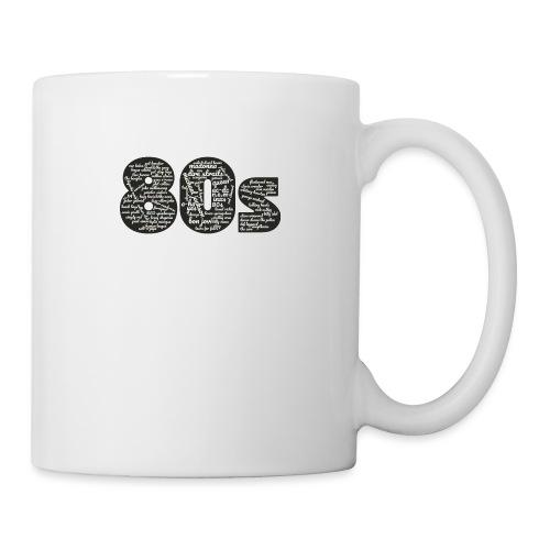 Cloud words 80s white - Mug