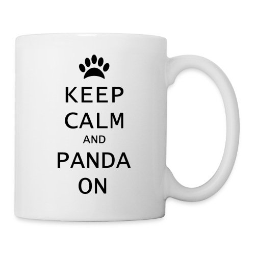 shirt keep calm and panda on zwart png - Mok