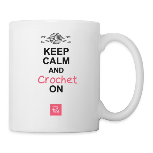 Keep calm and Crochet on - Tazza