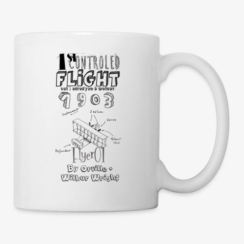 1stcontroled flight - Mug blanc