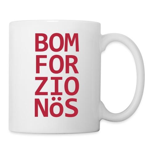 Bomforzionös schwarz vierzeilig - Tasse