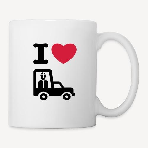 Papst im Auto - Mug