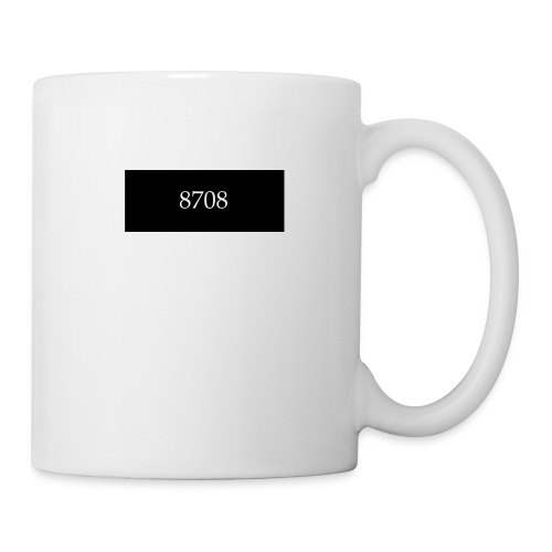 8708 white on black - Tasse