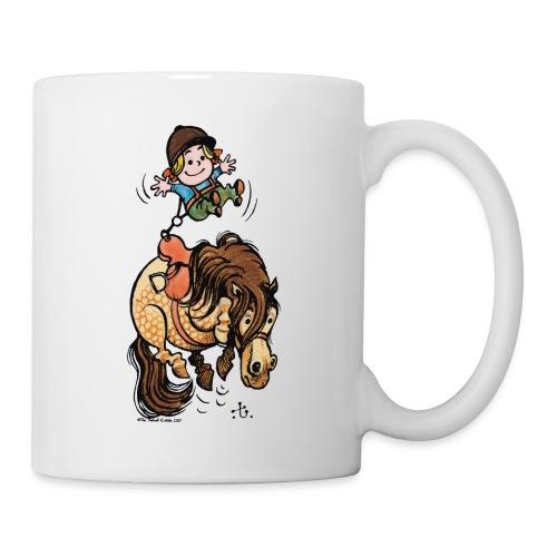 Thelwell Reiter Mit Gurt Und Buckelndes Pony - Tasse