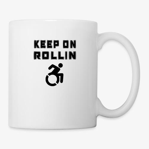 > Altijd blijven rollen met je rolstoel - Mok
