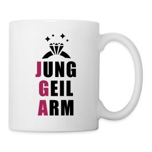 jung, geil arm - JGA T-Shirt - JGA Shirt - Party - Tasse