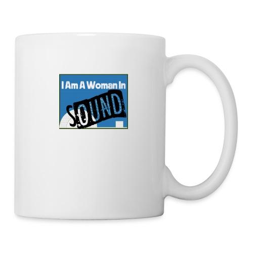 woman in sound - blue - Mug