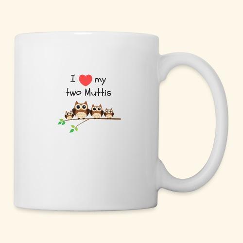 I love my two Muttis - Mug blanc
