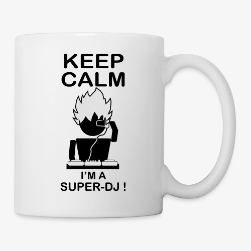 KEEP CALM SUPER DJ B&W - Mug blanc