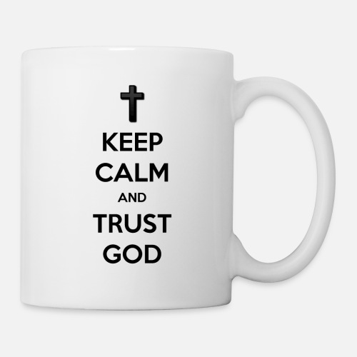 Keep Calm and Trust God (Vertrouw op God) - Mok