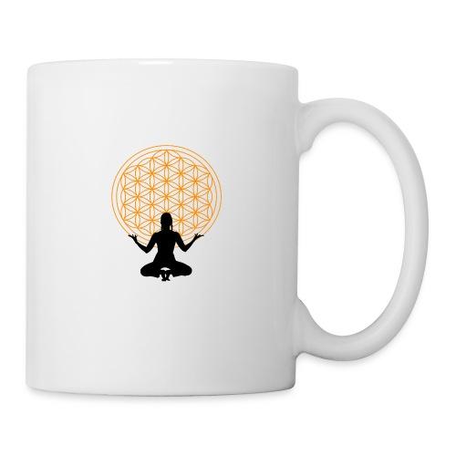fleur de vie yoga 3 - Mug blanc