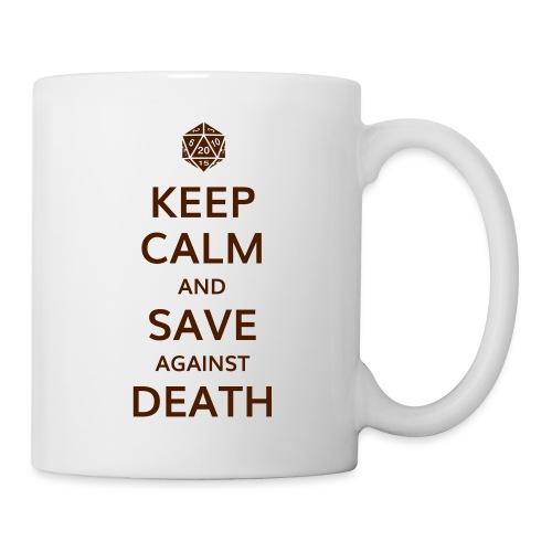 Keep calm and save against death - Mug blanc