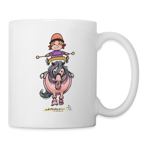 Thelwell Rider Balancing On Cute Horse - Mug