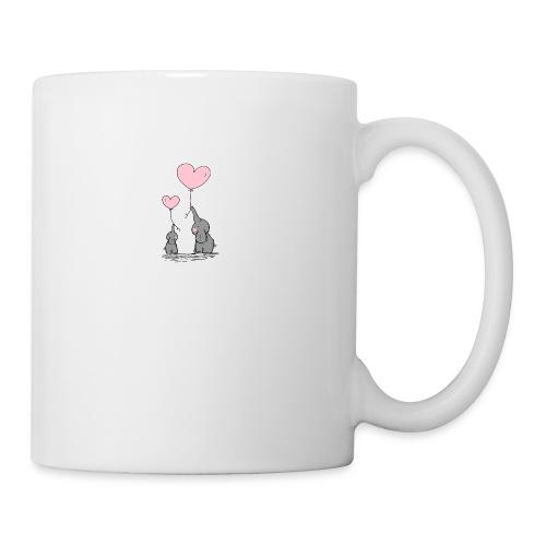 Éléphant Amoureux - Mug blanc