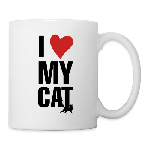 I_LOVE_MY_CAT-png - Taza