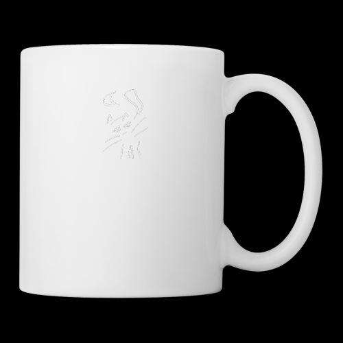 chat blanc sans texte et sans fond net ok - Mug blanc