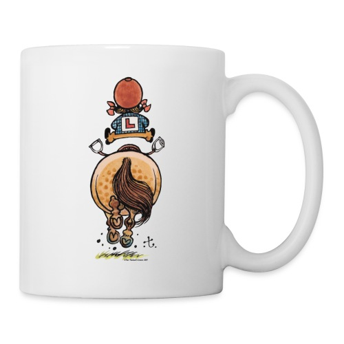 Thelwell Funny Riding Beginner Illustration - Mug