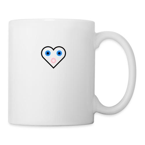 Un cœur qui cherche à exprimer sa joie. - Mug blanc