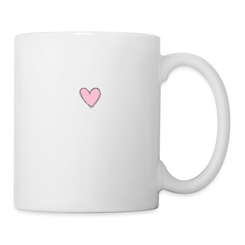 Coeur rose - Mug blanc