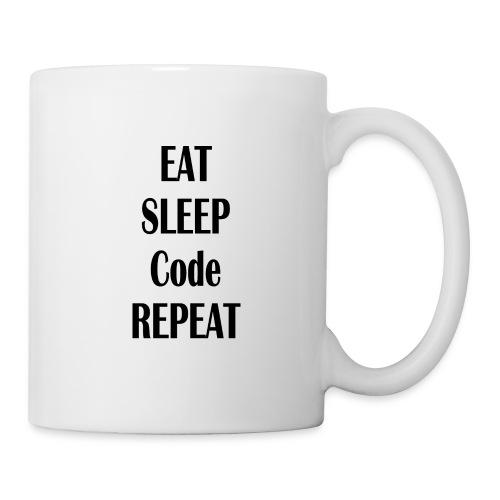 EAT SLEEP CODE REPEAT - Tasse