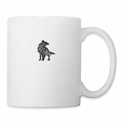 loup geometrique - Mug blanc