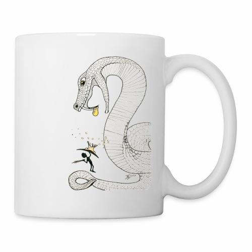 Poison - Combat contre un serpent venimeux géant - Mug blanc