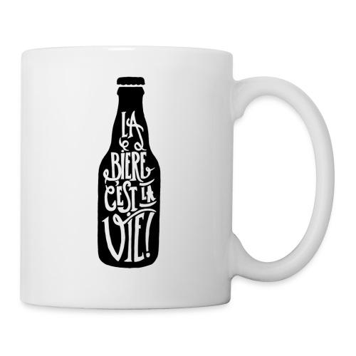 bière, la bière c'est la vie - Mug blanc