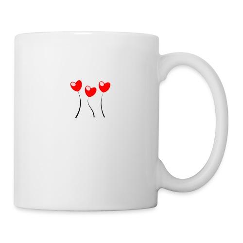Heart Flowers - Mug blanc