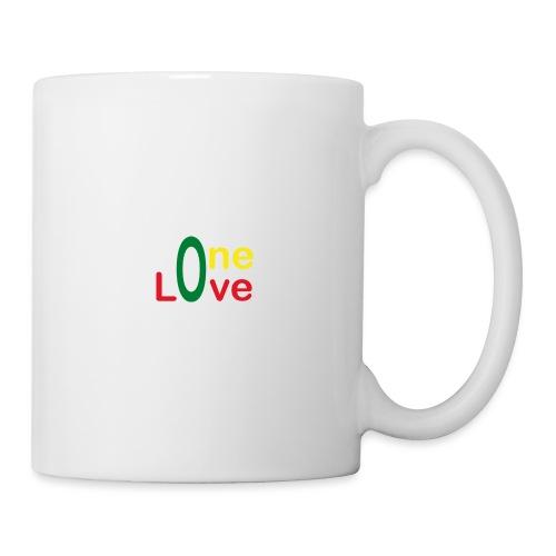 One love 01 Vert jaune rouge - rastafarie - Mug blanc