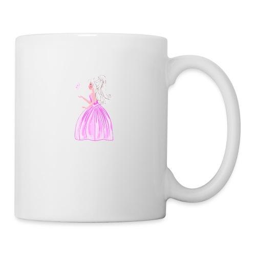 princesse et papillon - Mug blanc