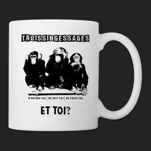 Three wise monkeys - Mug blanc